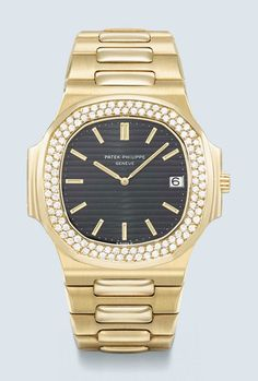 Patek Philippe. An 18k-gold and diamond-set wristwatch with Gay Frères 18k-gold bracelet. Ref. 37003. Manufactured in 1981. Estimate $70,000-120,000. This lot is offered in Important Watches on 19 October 2016 at Christie's in Dubai
