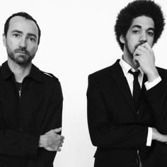 Broken Bells. James Mercer (left, lead singer and guitarist of the Shins) and Brian Burton (right).