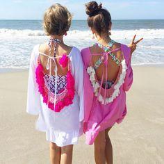 Women Summer Dress 2017 Sexy Backless Tassels Pareo Vestidos Woman Sexy Beach Tunic Dress Plus Size Party Dresses Boho Dresses
