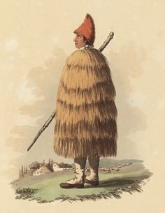 Portuguese shepherds wore woven rain capes from natural fibers.