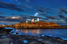 nubble lighthouse at york beach, maine - family vacation spot since the early '00s