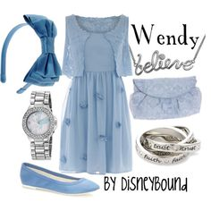 Wendy from Peter Pan.  Blue & bow & flats!