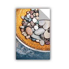 ArtWall ArtAppealz Elena Ray 'Rusted Bowl Of River Stones' Removable Wall Art (12x18)