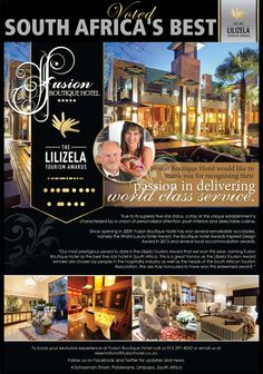 South Africa Awards Trade for Service Excellence - Tourism Tattler Free State, Hotel Interiors, South Africa, Tourism, Awards, Boutique, Turismo, Boutiques, Vacations