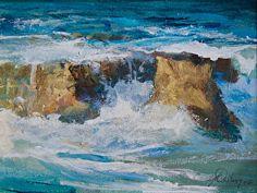Off Flag Point, Laguna Paintings I Love, Seascape Paintings, Nature Paintings, Landscape Paintings, Pacific Ocean, Artist Painting, Flag, Watercolor, Artwork