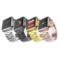 iPM Stainless Steel Watch Band With Plated Slim Case for Apple Watch | Overstock.com Shopping - The Best Deals on Smart Watch Accessories