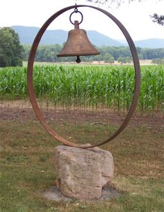 We never had a dinner bell, but Grandma did and called the family in from the fields at dinner time.