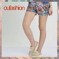 Começando o dia com um print apaixonante no nosso short fashion!  #oufashion #verão2016 #print #fashion #teen