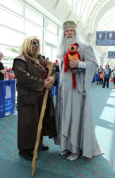 Mad-Eye Moody and Albus Dumbledore