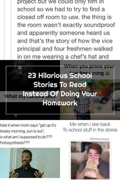 23 Funny Tumblr Posts About How Weird School Can Be Vice Principals, Funny School Pictures, Funny Tumblr Posts, The Thing Is, School Humor, Freshman, Weird, Freshman Year, Funny School