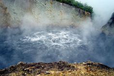 Boiling Lake, Morne Trois Pitons National Park, Roseau, Dominica. 2nd largest hot spring in the world, still actively boiling!