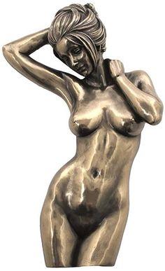 "Amazon.com: Custom & Unique {2"" x 5.8"" Inch} 1 Single, Home & Garden ""Standing"" Figurine Decoration Made of Resin w/ Metallic Artistic Feminine Nude Torso Modern Human Body Style {Black & Silver}: Home & Kitchen"