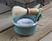 Shaving Mug Set. $35.00, via Etsy.