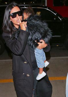 c2984d932dbc1 Kim Kardashian, Kardashian Fashion, Jenner Sisters, Jenner Style, Mommy And  Me,