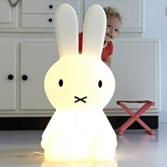 White Large Miffy Lamp // Little Seeds