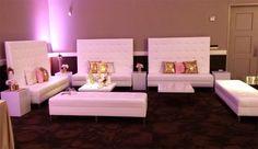 Tall Back Windsor Lounge Setup for wedding reception