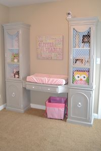 refurbished furniture. Later could become makeup area as she grows up