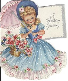 I had a card like this when l was little girl, so cute..