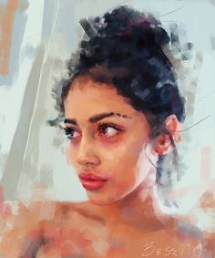 Superb use of color and brushwork in this #portraitart by IVANA BESEVIC