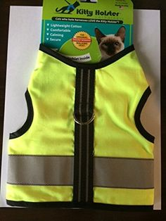 Kitty Holster Reflective Safety Harness SM Neon Yellow ** You can get more details by clicking on the image.