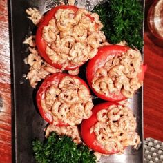 Tomatoes stuffed mayo shrimps. #instayum #homecooked #belgian   #delicieux  (at www.julianaloh.com)