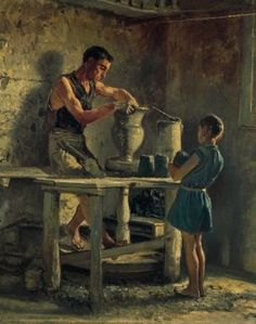 The potters, 1873, by Filippo Palizzi (1818-1899).