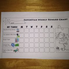 Bedtime routine chart for my 3 & 4 year old girls = stress-free evening!
