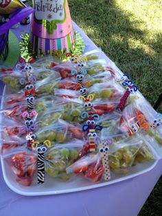 Butterfly treat bags - for Sylvie's in class birthday treats.
