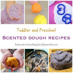 Scented Playdough Recipes - Teaching 2 and 3 Year Olds