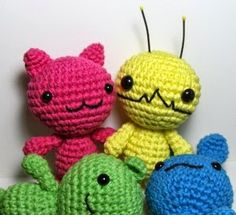 2000 Free Amigurumi Patterns: Alien Hominid, Chibi Kawaii Cat, Bunny and Bear Amigurumi Patterns