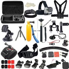1. Soft Digits GoPro Accessories 50-in-1 Gopro Accessory kit Bundle Kit for Gopro Hero 4 Gopro 3+ 3 2