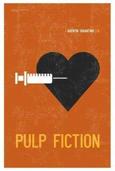 Fiction Minimalist Limited Edition Art Print Pulp Fiction ~ Minimal Movie Poster by Kevin KeetonPulp Fiction ~ Minimal Movie Poster by Kevin Keeton Minimal Movie Posters, Minimal Poster, Cinema Posters, Film Pulp Fiction, Dope Movie, Quentin Tarantino Films, Alternative Movie Posters, Christopher Nolan, Tattoo Designs
