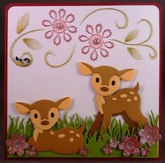 Baby Cards, Kids Cards, Marianne Design Cards, 4 Kids, Bambi, Die Cutting, Birthday Cards, Pikachu, Scrap