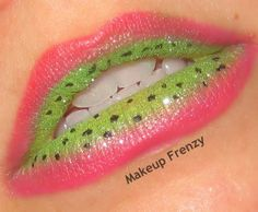 Reverse watermelon themed lips are fun and refreshing. Try something new and put aside the red lipstick. Watermelon Costume, Lipstick Tutorial, Lipstick Art, Nice Lips, Kissable Lips, Moisturizer With Spf, Lip Kit, Beautiful Lips, Makeup Inspiration