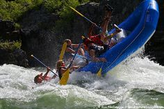 Whitewater rafting on the Snake River, Wyoming