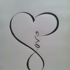 "A different take on the ""infinite love"" tattoo idea"