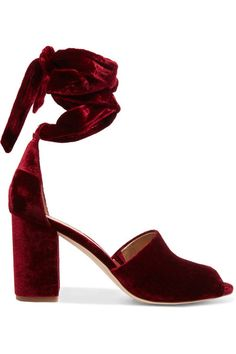 Sam Edelman - Odele Velvet Sandals - Burgundy - US6.5