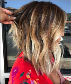 Blonde Hair With Roots, Brown Blonde Hair, Blonde Hair For Brunettes, Long Bob Haircuts, Long Bob Hairstyles, Newest Hairstyles, Wedding Hairstyles, Modern Short Hairstyles, 2015 Hairstyles