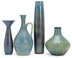 Carl Harry Stålhane, Rörstrand Porcelain Clay, Ceramic Vase, Ceramic Pottery, Retro, Tea Set, Interior Decorating, Sculpture, Design, Vintage