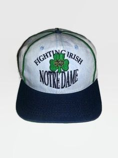 Vintage 1990s NOTRE DAME Fighting Irish #NCAA THE GAME Snapback Hat Cap Glued Tag #NotreDameFightingIrish