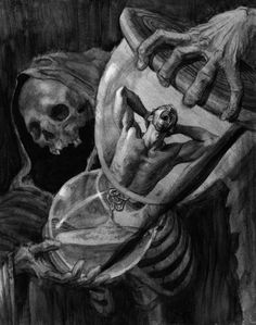 Drawing tattoo dark art 67 ideas for 2019 Arte Horror, Horror Art, Skull Tattoos, Body Art Tattoos, Grim Reaper Art, Art Noir, Hourglass Tattoo, Hourglass Drawing, Reaper Tattoo
