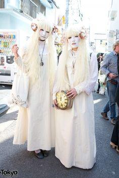 Japanese Shironuri Fashion in Harajuku (77)