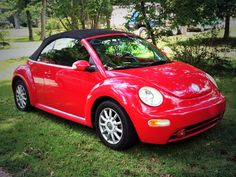 2004 red vw beetle convertible. My new car!