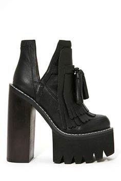 Jeffrey Campbell O-Quinn Platform Boot - Black | Shop Boots at Nasty Gal