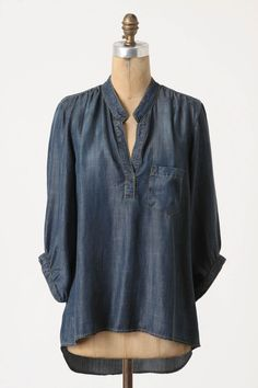 Wagner Tunic, Anthro, $98. Tried this on and it's super flattering, drapes just so.  Perfect casual chic.