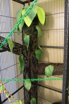 Treehouse for sugar gliders! Super cool! I'd kinda like to make a large vertical climbing tunnel for the raccoons!!