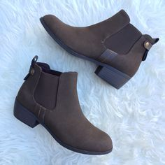 Laurie Booties - Dark Brown