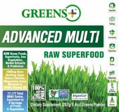 Greens + Advanced Multi Raw Superfood – oz – NEW Formula Diet Supplements, Vitamins And Minerals, Superfood, Health Care, Health Fitness, Herbs, Nutritional Supplements, Herb, Fitness