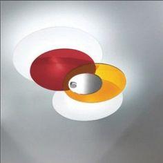 Stropní svítidlo Hula Hoop 90235 červeno-oranžovo-bílé