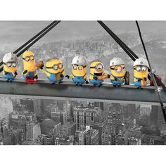 Found it at Wayfair.co.uk - Despicable Me Minions Lunch On A Skyscraper Graphic Art on Canvas